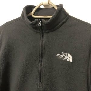 NORTH FACE ZIP FLEECE GREY MENS MEDIUM